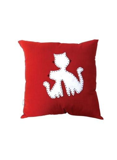 LSV Dükkan Dekoratif Yastık Kırmızı